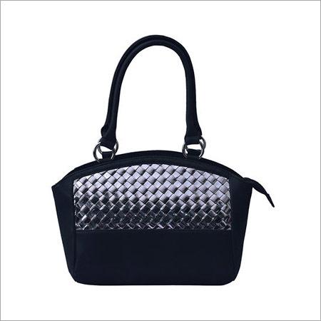 Solid Pattern Matty Chatai Black Handbag
