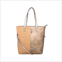 Ladies Gold Tote Bag