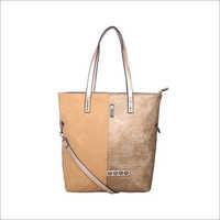 Ladies Gold Tote Bag