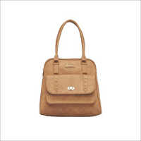 Ladies Beige Leather Handbags