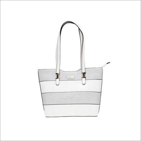 Ladies White And Grey Handbags