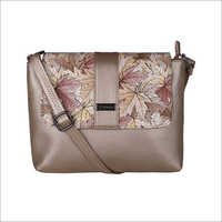 Ladies Rust Gold Sling Bag
