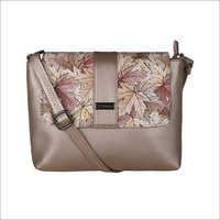 Ladies Rust Gold Sling Bag