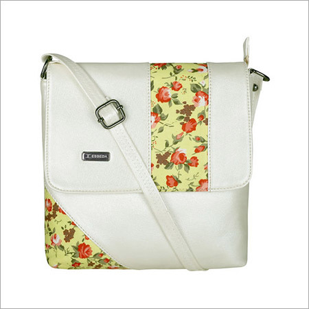 Ladies Cream Sling Bag