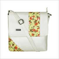 Ladies Cream Sling Bag