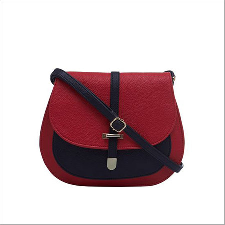 Ladies Red Black Sling Bag