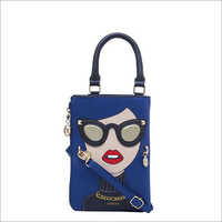 Ladies D-Blue Sling Bag