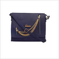Ladies Dark Blue Sling Bag