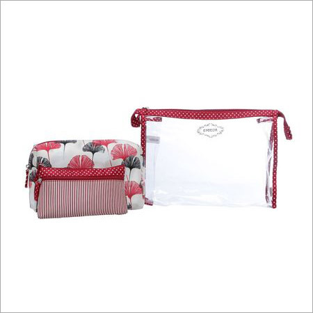 Ladies Red Travel Organiser Kit