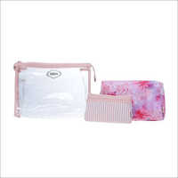 Ladies Pink Travel Organiser Kit