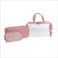 Ladies Peach Travel Organiser Kit