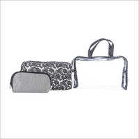 Ladies Black Travel Organiser Kit