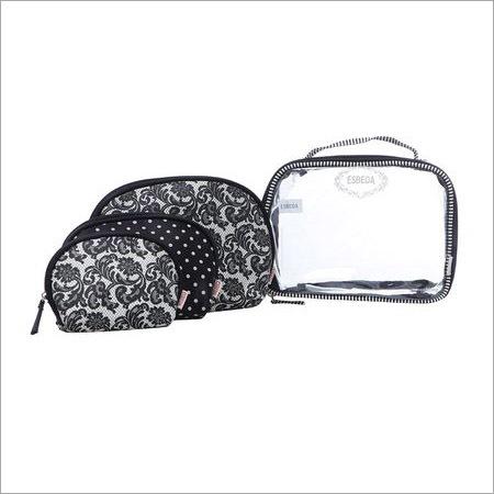 Ladies Four Pack Black Travel Organiser Kit