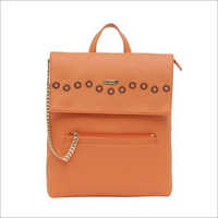 Ladies Orange Backpack