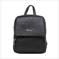 Ladies Metallic Black Backpack