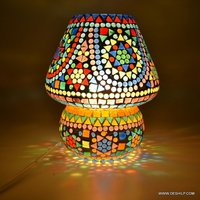 Mosaic Glass Table Lamp Egg Shaped