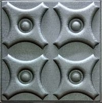 Silfra Leather Panel Metallic Silver