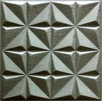 Silfra Leather Panel Metallic Beige