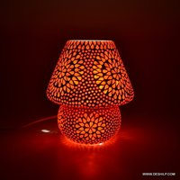 RED COLOR GLASS MOSAIC TABLE LAMP