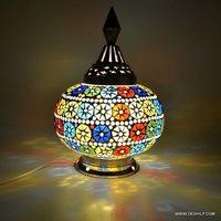 Mosaic Handmade Decorative Multicolored Table Lamp