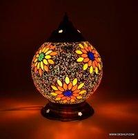 Mosaic Handmade Decorative Multicolored Crystal Table Lamp Home Decor Beautiful Gifts Lamp