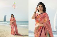 Latest Georgette Print Sarees