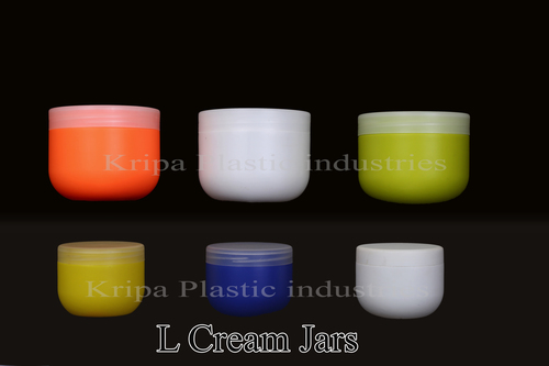 plastic  L cream jar