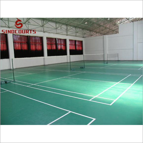4.5mm green litchi pvc Sport Flooring