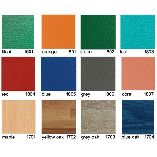 3.5mm to 8.0mm Thickness PVC Synthetic Sport Flooring