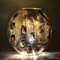Mercury Antiqued Glass Table Lamp Elegant Designs