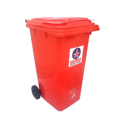 Plastic Dustbin With Wheel 240 Ltr