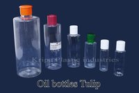 Plastic Transparent Tulip Oil Bottles