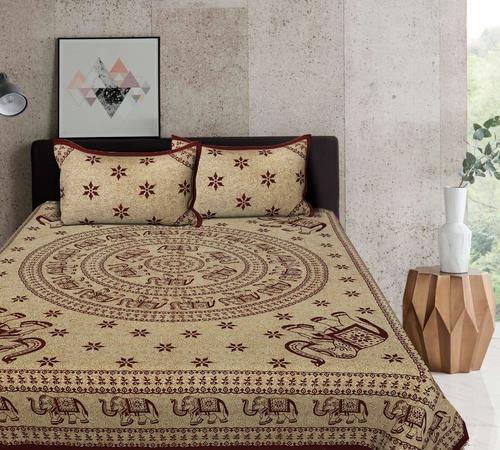 Jaipuri Block Print Bed Sheet