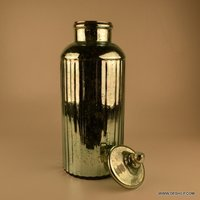 Long Glass Silver Jar