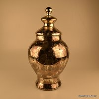 SILVER GLASS DECOR JAR