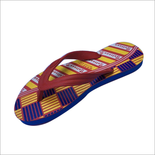 Mens Ultra Printed Rubber Flip Flops
