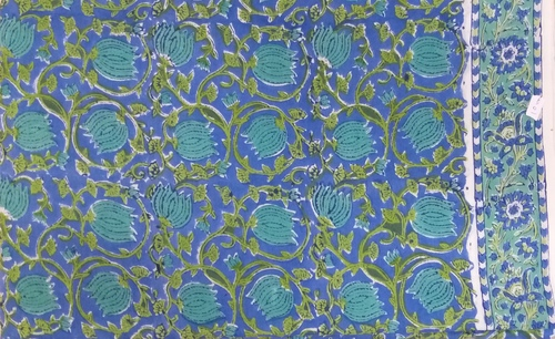 5 Yard Hand Block Print 100% Cotton Fabric