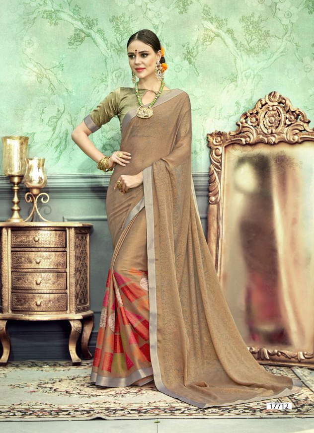 Stylish Chiffon Brasso Saree