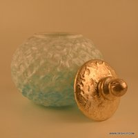 COLORFUL AND ANTIQUE DESIGN GLASS JAR WITH LID