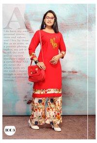Trendy Rayon Printed Kurta Palazo Collection
