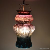 GLASS SILVER DECOR SHAPE WALL HANGING LAMP