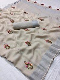 Embroidered Art Silk Fashion Saree