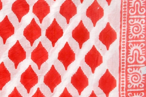 HAND BLOCK  COTTON FABRIC DESIGN