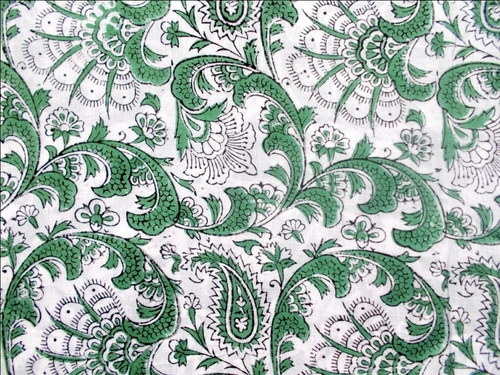 GREEN PRINT 100% COTTON FABRIC DESIGN