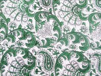 GREEN PRINT 100% COTTON FABRIC DESIGN
