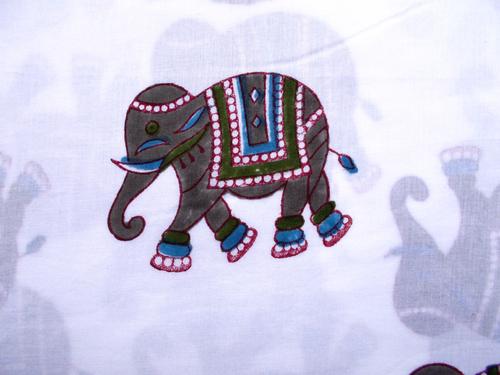 Elephant Hand Block Print Design