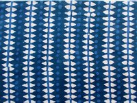 Blue Pattern Fabric Design