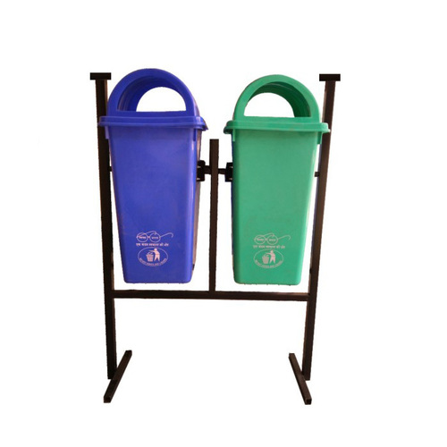 Twin Dustbin With Stand 80 Ltr.