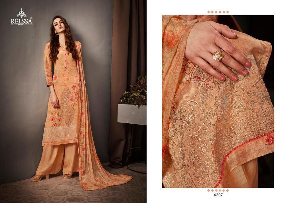 Printed Crape Salwar Suits