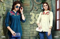 Embroidery Work Kurtis